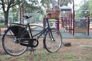 Town bike with basket