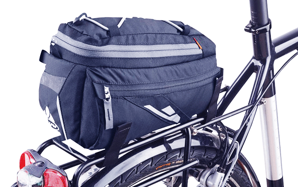 rear mounted bicycle rack bag