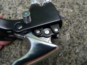 Adjusting a brake lever
