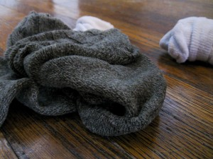Wet socks after cycling to work