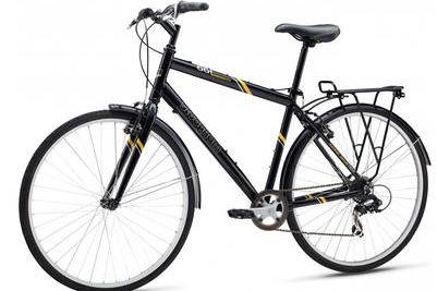 Mongoose ® Bikes: The Crossway | Hybrid Bike In Black/Red
