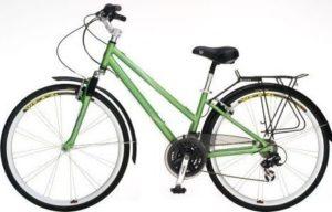 ladies sloped bar hybrid bicycle