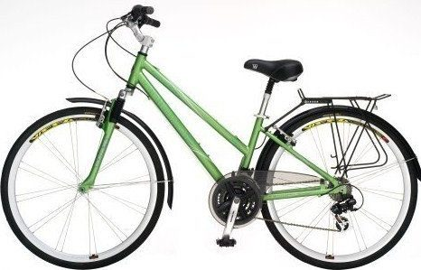 ladies sloped bar hybrid bicycle
